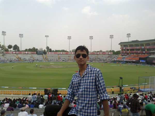 Cricket + IPL (16/Apr/2013) Happy, my nephew during an IPL match at PCA stadium Mohali